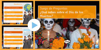 KS3 Mexican Day of the Dead Quiz PowerPoint Spanish - Halloween, Day, Dead, Vocabulary, game,  Mexico, Traditions, Festivities, Celebrations