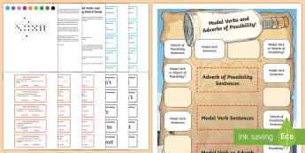 Modal Verbs and Adverbs of Possibility Board Game
