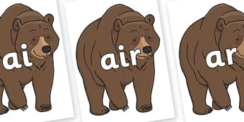Phase 3 Phonemes on Bear - Phonemes, phoneme, Phase 3, Phase three, Foundation, Literacy, Letters and Sounds, DfES, display