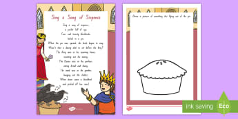 Sing a Song of Sixpence Activity Sheet - NZ Literacy Resources, Year 1-3, nursery rhymes, New Zealand, activity, worksheet, activities, readi