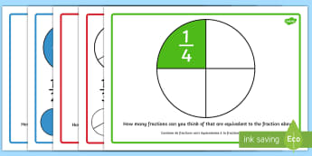 Equivalent Fractions Display Posters English/French - Equivalent Fractions Posters - fractions, posters, displays, frctions, frations, factions, fractiosn