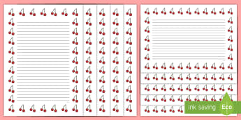 Cherry Themed Page Border Pack - Cherry Themed Page Border Pack - cherry, cherries, themed, page borders, page, borders, cherry, tree