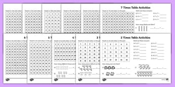 Times Tables Activity Pack - times table, activity, pack, times tables, maths, mathematics