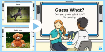Guess What? Oral Language PowerPoint Game - Guess, What, Oral, Language, Game ,Irish