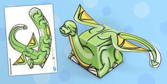 Simple Dragon Paper Model - paper, model, craft, dragon, simple