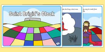 Saint Brigid's Cloak Story Sequencing Cards - saint brigid, irish history, ireland, saint, patron, sequencing, worksheets
