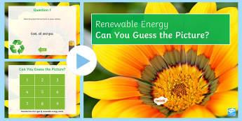 Renewable Energy Quick Quiz - energy, wind power, Geothermal, Solar Power, HEP, Physics, renewable energy, revision