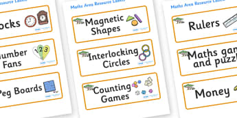Safari Themed Editable Maths Area Resource Labels - Themed maths resource labels, maths area resources, Label template, Resource Label, Name Labels, Editable Labels, Drawer Labels, KS1 Labels, Foundation Labels, Foundation Stage Labels, Teaching Labe