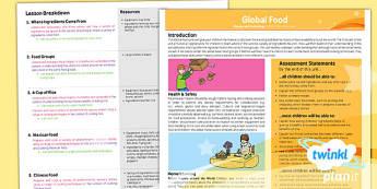 D&T: Global Food UKS2 Planning Overview