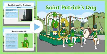St Patrick's Day Assembly PowerPoint - KS1& 2 St Patrick's Day UK March 17th 2017
