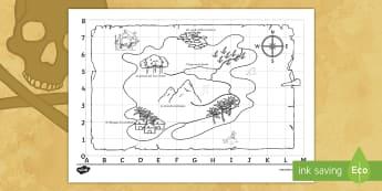 Mappa del tesoro dei pirati Attività - mappa, compasso, strada, orientamento, italiano, italian, materiale, scolastico, capitan, uncino