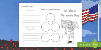 Veterans Day Brochure Activity - Service Member, Soldier, Hero, Military, Army, Navy, Air Force, Coast Guard, Marine