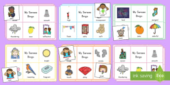 My Senses Bingo - senses, feelings, bingo, emotions, games