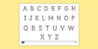 Letter Formation Alphabet Handwriting Practice Sheet (Uppercase) - letters, letter formation, formation, alphabet, handwriting, worksheet, handwriting worksheet, practise