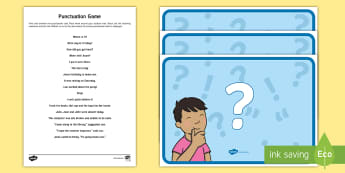 Outdoor Punctuation KS1 Game - outdoor learning, literacy, punctuation, game, activity,Scottish