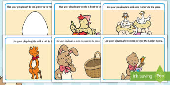 Saving Easter Playdough Mats - Children's Books, story, book, Easter, save, saving, Easter Bunny, bunny, bunnies, stories, chick,