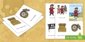 Pirates Emergent Reader - pirate, pirates, emergent reader, ebook pre-k literacy, kindergarten literacy, pirates emergent read