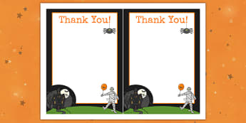 Halloween Party Thank You Cards - halloween, thank you, party