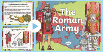 Roman Army PowerPoint - romans, the roman army, the romans, ancient romans, facts about the roman army, the roman army information powerpoint, ks2 history