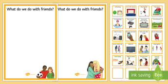 What We Do with Friends Cut and Stick Activity - Requests, SEN, friendship, KS3, KS4,