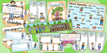 Oliver's Vegetables Story Sack - olivers vegetables, stories