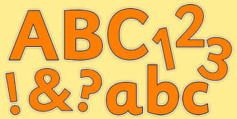 Orange Colour Display Lettering - display, classroom, colour, decorate, ks1, ks2, eyfs