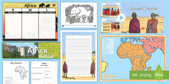 Africa and South America - Africa Resource Pack - ACHASSK087, Year 4, Australian Curriculum, Geography, display, Activities, research, natural feature