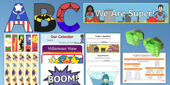 Super Hero Theme Back to School Resource Pack - New Zealand Back to School, getting to know you, first week back, summer holidays,
