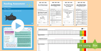 Year 1 Term 3 Paper 1 Reading Assessment  Resource Pack - Year 1 Reading Assessment Guided Lesson PowerPoints, reading, read, assessment, test, powerpoint, ye