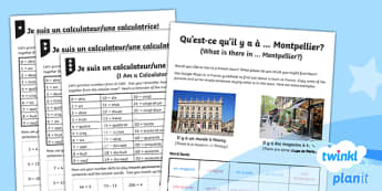 French: All Around Town Year 4 Home Learning Tasks