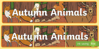 Autumn Animals Display Banner - autumn, animals, display banner, display area, seasons,Irish