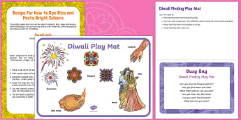 Diwali Finding Busy Bag Prompt Card and Resource Pack