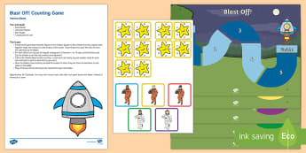 Blast Off! Counting Activity Resource Pack - mathematics, number, counting, irregular arrangement, objects, space, astronaut.