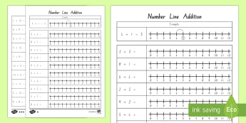 Addition up to 12 and 20 Number Line Activity Sheet - New Zealand, maths, adding, addition, numbers to 20, Years 1-3, age 5, age 6, age 7, number line, nu