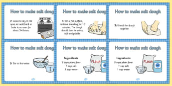 Salt Dough Recipe A4 Display Posters - Salt Dough, Saltdough, recipe, display, poster, A4, making saltdough, recipe card, how to make salt dough
