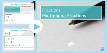Multiplying Fractions PowerPoint - Mixed Number Improper Simplify Simplest Numerator Denominator Multiplication Multiply Number