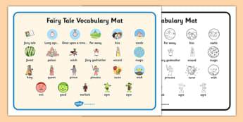 Fairy Tale Vocabulary Mat - fairy tale, fairy, tale, vocabulary