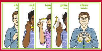 New Zealand Sign Language School Display Posters - nz, new zealand, sign language, school, display posters, display, posters