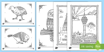 New Zealand Mindfulness Colouring  Bumper Pack - New Zealand Mindfulness