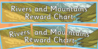 Rivers and Mountains Reward Chart Display Banner - rivers, mountains