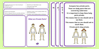 What are Private Parts? Social Situation - Autism, ASD, social story, body safety, danger, keeping safe