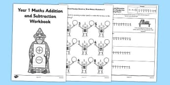 Year 1 Maths Addition and Subtraction Workbook - year 1, maths, addition, subtraction, workbook