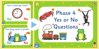 Phase 4 Yes No Questions PowerPoint-phase four, phase 4, yes or no game, powerpoint, sounds, letters, phase powerpoint, phases, literacy