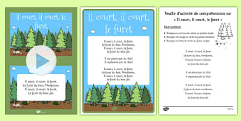 Il Court, Il Court, Le Furet Nursery Rhyme Pack French - french, language, il court, le furet, nursery rhyme, pack