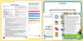 EYFS Toy Shop Positions Problem Adult Input Plan and Resource Pack - EYFS, Early Years planning, adult led, Children Use Everyday Language to Talk About Position and to