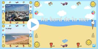 PowerPoint : Au bord de la mer -  bord de mer, mer, plage, photos, vocabulaire, powerpoint, seaside display photo powerpoint PowerPoi