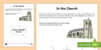 ROI In the Church Write Up Activity Sheet - Confession & First Communion Resources,Irish