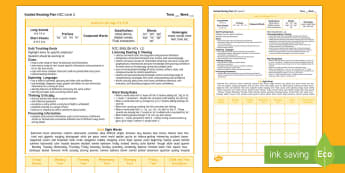 New Zealand Gold Guided Reading Weekly Plan - literacy, Gold, colour wheel, reading, guided reading