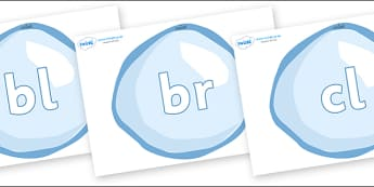 Initial Letter Blends on Bubbles - Initial Letters, initial letter, letter blend, letter blends, consonant, consonants, digraph, trigraph, literacy, alphabet, letters, foundation stage literacy