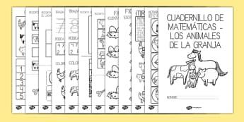 Cuadernillo de matemáticas - en la granja-Spanish